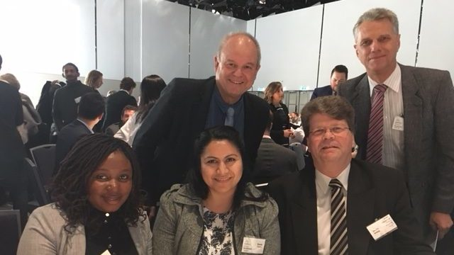 Mirriam Katongo, Wayne Krause, Sonia Castro, Steve Currow, Adrian Raethel (v.l.)