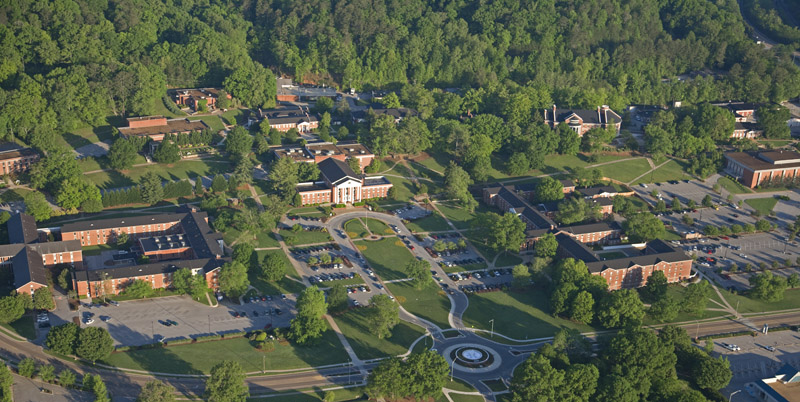 Campus der Southern Adventist University in Collegedale, Tennessee/USA