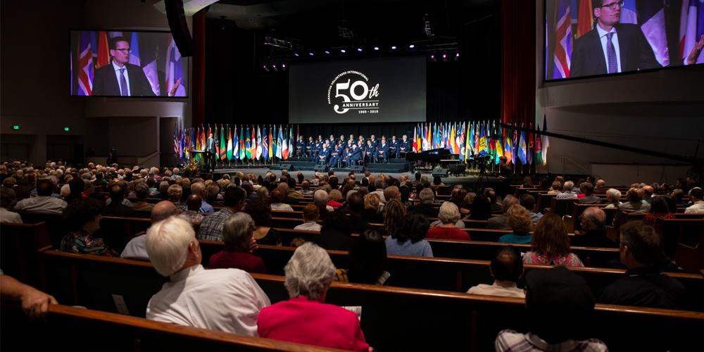 Festakt zu 50 Jahre Maranatha Volunteers International in Sacramento, Kalifornien/USA